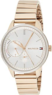 Tommy Hilfiger 1782021 Stainless Steel Round Analog Water Resistant Watch for Women - Rose Gold