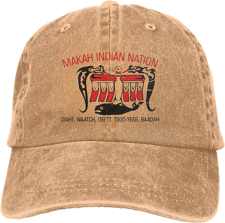 BGWORZD Makah Indian Nation Unisex Baseball Cap Adjustable Dad Hat Washable Cowboy Hat Black