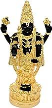 "Balaji Statue 4.7"" - Hindu God, Gold Plated Resin Statue, Black Color"