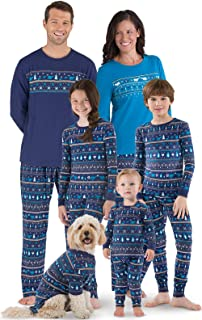 Christmas Family Matching Pajamas - Family Holiday Pajamas, Navy