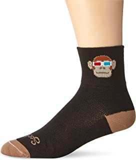 SockGuy Classic 3in Monkey See 3D Cycling/Running Socks