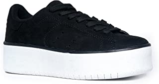 Platform Lace Up Sneaker - Casual Chunky Walking Shoe - Easy Everyday Fashion Slip On - Hero