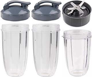 NutriBullet Parts kit ULTIMATE Cups & Blade &Top Gear & Gaskets & Shock Pad Replacement Set for NutriBullet High-Speed Ble...