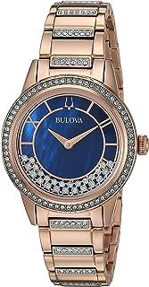 Bulova Womens Quartz Watch, Analog Display and Stainless Steel Strap 98L247