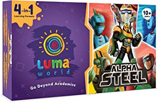 Luma World Alpha Steel 4 in 1 Educational Board Game STEM Activity Kit for Ages 10+ Years to Master Numbers, Critical Thin...