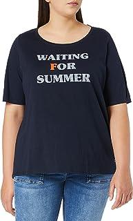 TOM TAILOR Denim Plussize Wording MY TRUE ME Camiseta Donna