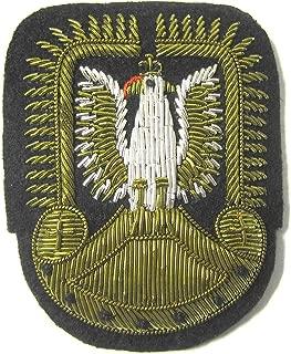 WW2 Polish RAF Officer Cap Hat Badge Poland Bullion Polska czapka odznaka New
