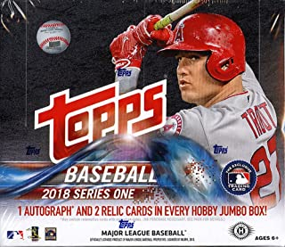 2018 Topps Series 1 MLB Baseball JUMBO box (10 pk)