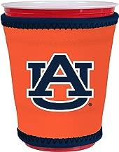 Kolder NCAA Logo Coolie Kup Holder Sleeve Fitting Plastic Cups, Pint Glasses, Coffee Cups, Ice Cream, Etc. - Neoprene and Bottomless (Auburn Tigers)