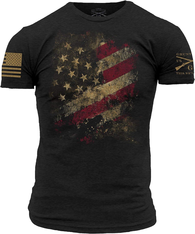 Grunt Under blast Finally popular brand sales Style Worn Flag 2.0 T-Shirt Men's