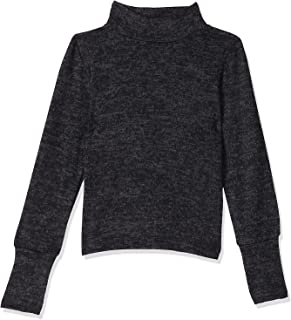 Giggles Long Sleeves Elastic Cuffs High-Neck Top for Girls