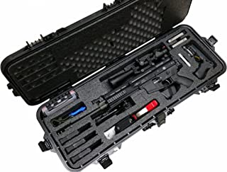 Case Club Pre-Made SCAR17S Waterproof Rifle Case with Accessory Box and Silica Gel to Help Prevent Gun Rust