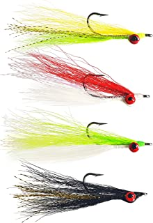 The Fly Crate Clouser Minnow Streamer Assortment | Fly Fishing for Trout Bass Pike