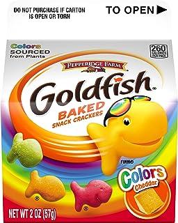 Pepperidge Farm Goldfish Colors Cheddar Crackers, 2 oz. Carton (Pack of 48)