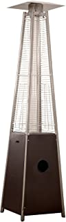 AZ Patio Heaters Patio Heater, Quartz Glass Tube in Hammered Bronze
