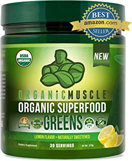 Organic Superfood Greens | #1 Super Greens Powder | Green Juice Supplement for Energy, Detox, Immune & Gut ...