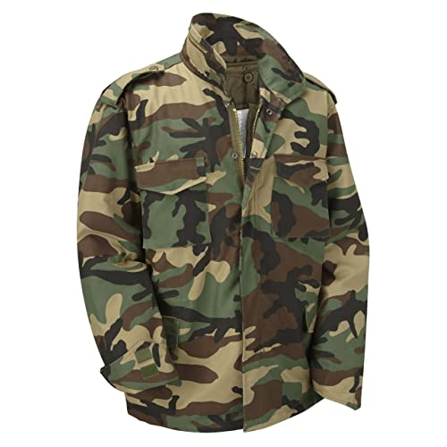 60abe895299b2 M65 Military Field Jacket With Removable Quilted Inner Liner-Woodland  Camouflage