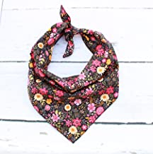 Pet Pooch Boutique Snapdragon Floral Bandana for Dog, Small/Medium, One Size
