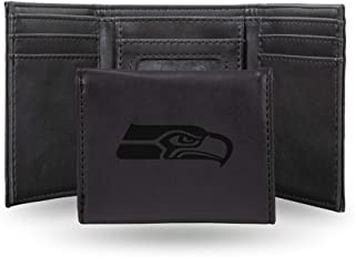NFL Rico Industries Laser Engraved Trifold Wallet, Seattle Seahawks Team Color, 3.25 x 4-inches