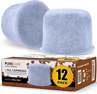 (12 Pack) Compatible Capresso Charcoal Replacment Water Filters by Pureline- Compatible for most Capresso Coffee Brewers a...