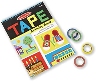 Melissa & Doug Tape Activity Book (Early Learning Skill Builder, 4 Rolls of Easy-Tear Tape, Sturdy Plastic Binding, 20 Pages)