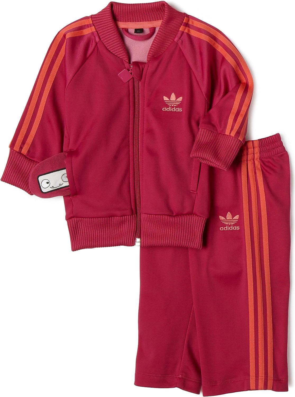 Adidas Adikids Superstar Tracksuit, Core Magenta