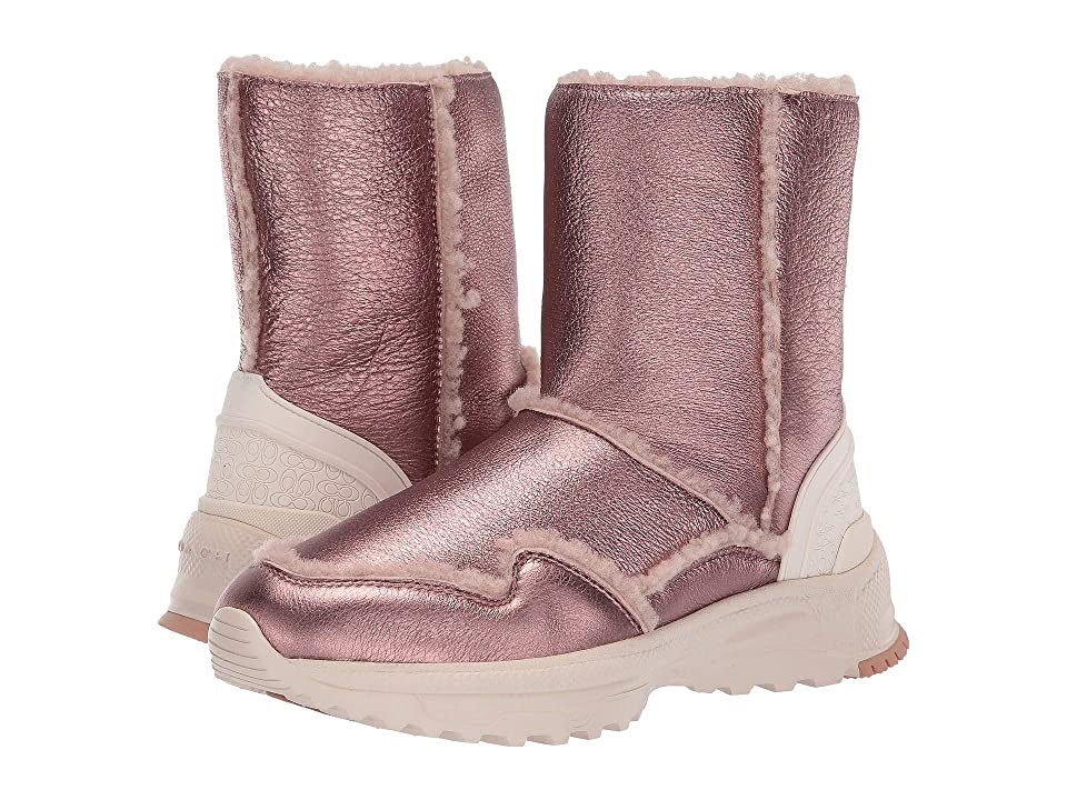 COACH Portia Cold Weather Bootie (Pink/Pink) Women