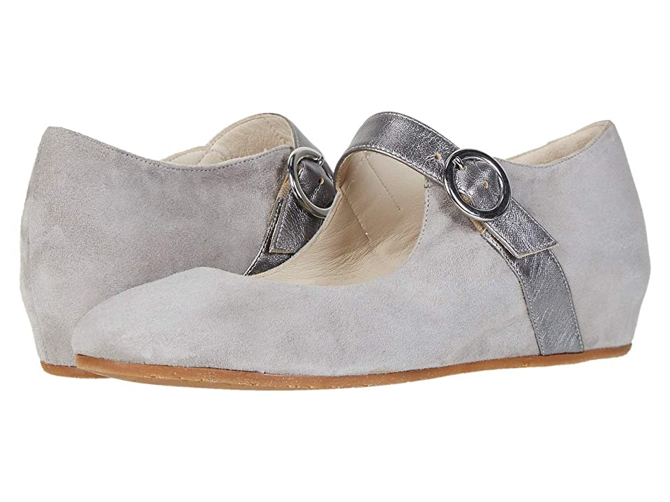 Image of Amalfi by Rangoni Voghera (Light Grey Cashmere/Anthracite Raso) Women's Shoes