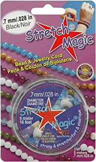 Pepperell 0.7mm Stretch Magic Bead and Jewelry Cord, 5m, Black