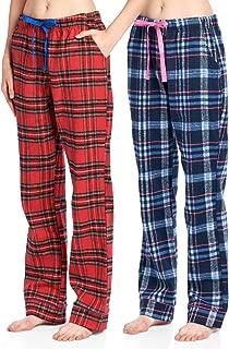 Women's Super Soft Flannel Plaid Pajama Sleep Pants