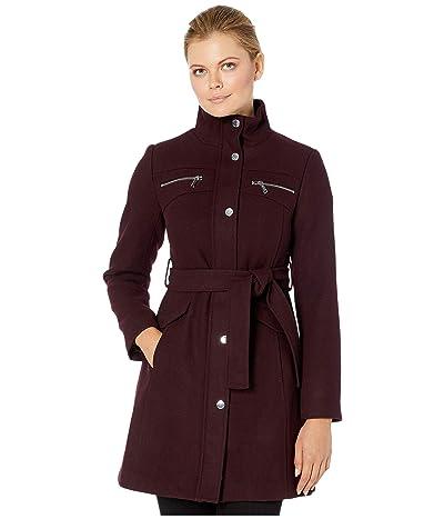 Vince Camuto Belted Wool Coat V29769 (Port Royale) Women