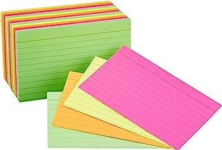 کارتهای Flash Flash Index AmazonBasics ، Neon Assorted Colour ، 3x5 Inch، 300-Count