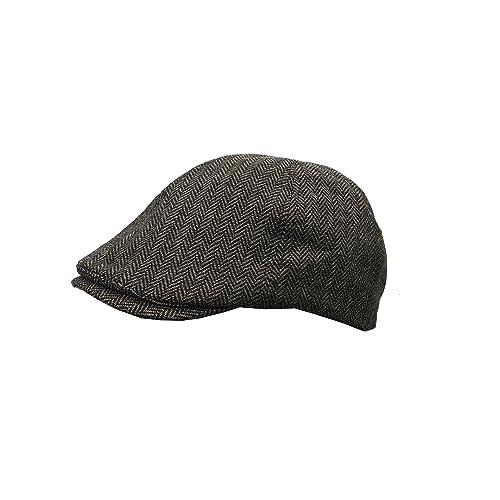 ba205435977f New Men's Heritage Traditions Check Tweed Farmer Festival Flat Cap Hat