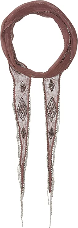 Chan Luu - Beaded Diamond Long Skinny Scarf
