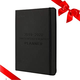 Daily Planner 2019-Daily,Weekly,Monthly,Yearly Planner,Organizer To Achieve Goals and Improve Productivity-Day Journal-Daily Agenda Planner(5.8x8.4,Black)