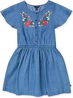 Lucky Brand Big Girls' Short Sleeve Denim Dress