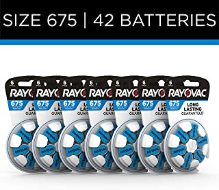 Rayovac Hearing Aid Batteries Size 675 for Hearing Aid Devices (42 Count)