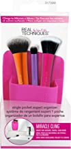 Real Techniques Single Pocket Expert Organizer, Pink, Easily Mounts to Mirror, Wall, Dresser, or Tile, Holds Makeup, Makeup.