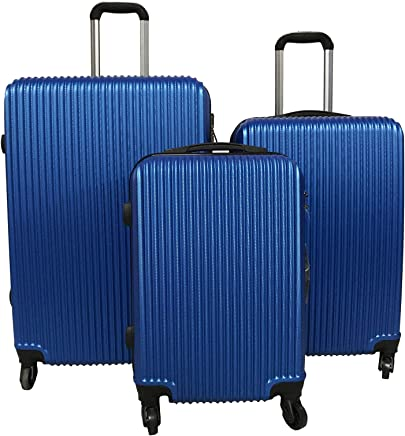 e577251d7 Amazon.ae  le-voyageur-4-spinner-wheel-3-piece-luggage-trolley-bag ...