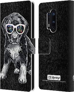 Head Case Designs Licenciado Oficialmente P.D. Moreno Cachorro Perros Blancos y Negros Carcasa de Cuero Tipo Libro Compati...