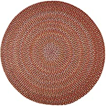 product image for Rhody Rug Cozy Cove Indoor/Outdoor Round Braided Rug by (6' x 6') - 6' Round Red