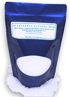 SZ Cetearyl Alcohol (50/50) 1 Lb. for DIY Cosmetics, Soaps, Candles or Any Craft Project.