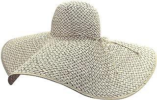Luxury Divas Wide Brim Straw Floppy Hat