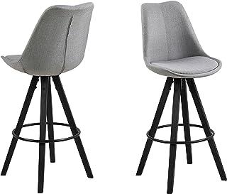 Amazon Brand - Movian Arendsee - Juego de 2 taburetes de bar 55 x 485 x 1115 cm gris