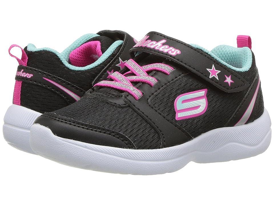 SKECHERS KIDS Skech Stepz 2.0 (Toddler/Little Kid) (Black/Turquoise) Girls Shoes