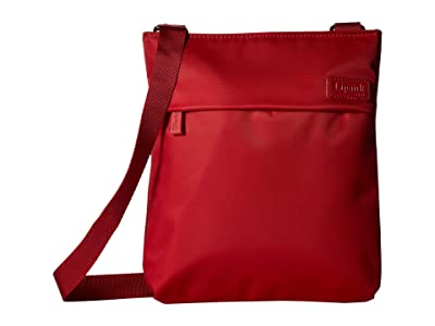 Lipault Paris City Plume Crossover Bag M (Cherry Red) Bags