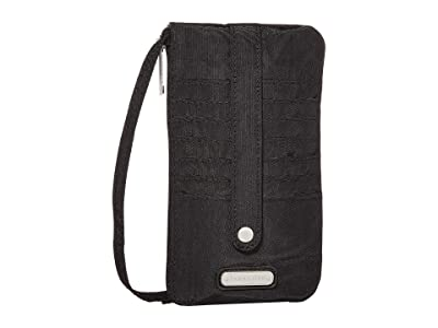 Baggallini Phone Wristlet (Black) Handbags