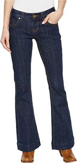 Rock and Roll Cowgirl Trousers Bootcut in Dark Wash W8-5098