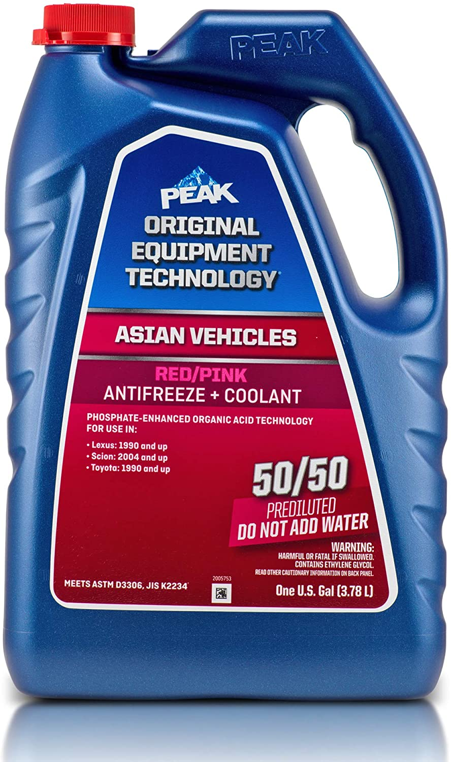 PEAK OET Daily bargain sale Extended Life Now free shipping Red Cool Pink 50 Antifreeze Prediluted