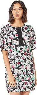 Women's Short Sleeve Shift Woven Dress